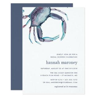 Blue Crab Bridal Shower Invitations