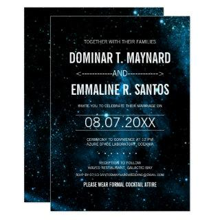 Blue Galaxy Wedding Invitations