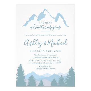 Blue Mountains Forest Rehearsal Dinner Invitations