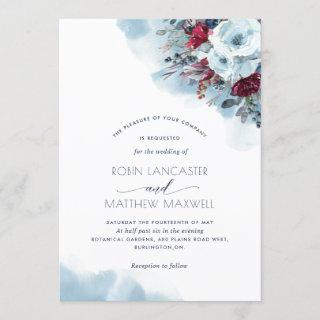 Blue, Purple, Red Floral Celestial Blooms Wedding
