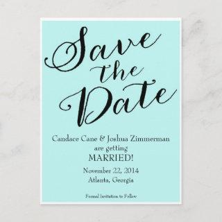 Blue Save the Date Announcement Postcard