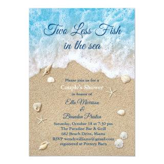Blue Two Less Fish in the Sea Couple's Shower Invitations