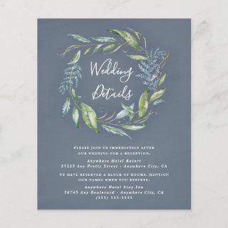 Blue Watercolor Eucalyptus Wedding Enclosure Cards