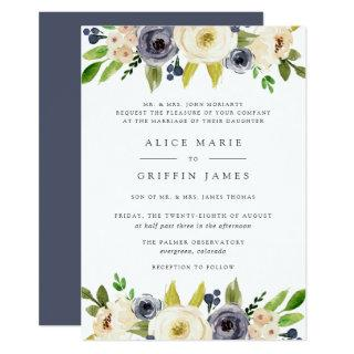 Blueberry Lane Wedding Invitation