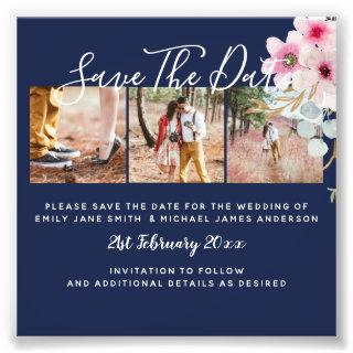 Blush Blue Engagement Photo Save the Date BUDGET