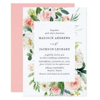 Blush Florals | Floral Frame Wedding Invitations