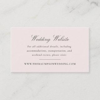 Blush Pink and Grey Vintage Elegant Floral Website Enclosure Card