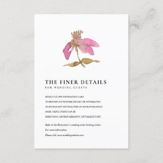 BLUSH PINK CHERRY BLOSSOM FLORAL WEDDING DETAIL ENCLOSURE CARD