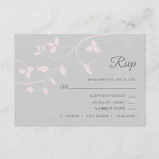 Blush Pink & Grey RSVP Spring Summer Wedding