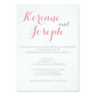 Blush Pink Wedding Invitations - Calligraphy Style