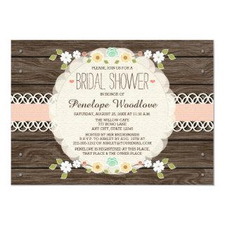 BLUSH RUSTIC FLORAL BOHO BRIDAL SHOWER INVITATIONS
