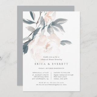 Blush Whisper Rehearsal Dinner Invitation