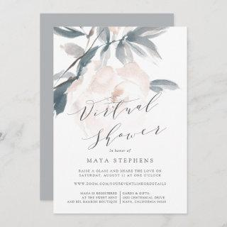 Blush Whisper Virtual Bridal or Baby Shower Invitations