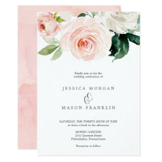 Blushing Blooms Wedding Invitation Ampersand