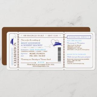 Boarding Pass Cruise Ticket Wedding Invitations