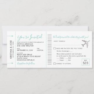 Boarding Pass Plane Ticket All-In-One Invitations