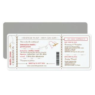 Boarding Pass Ticket Wedding Invitations