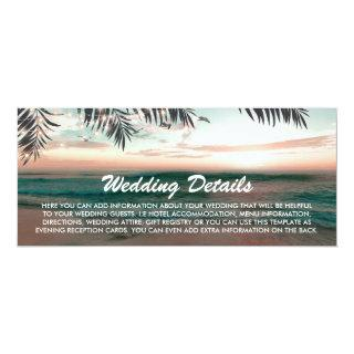 Boarding Pass Tropical Beach Wedding Details Invitations