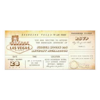 boarding pass wedding tickets-Invitations LAS VEGAS Invitations