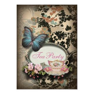Bohemian Botanical butterfly Paris bridal shower Invitation