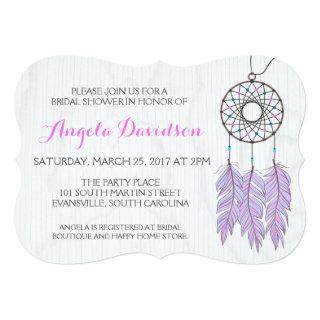 Bohemian Dreamcatcher Rustic Wedding Bridal Shower Invitations
