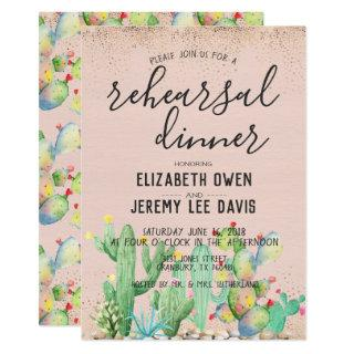 Bohemian Glam Fiesta Wedding Rehearsal Dinner Invitations