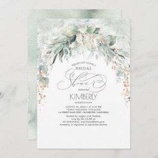 Bohemian Greenery Romantic Summer Bridal Shower Invitations
