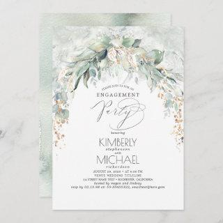 Bohemian Greenery Spring Garden Engagement Party Invitations