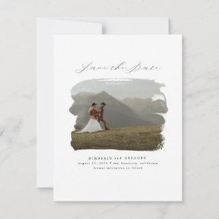 Bohemian Modern Minimalist Save the Date Photo