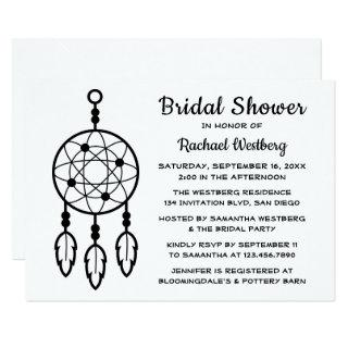 Boho Bridal Shower Wedding Dreamcatcher Tribal Invitation