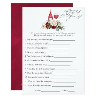 Boho Burgundy Floral Wine Tasting Bridal Shower Invitations