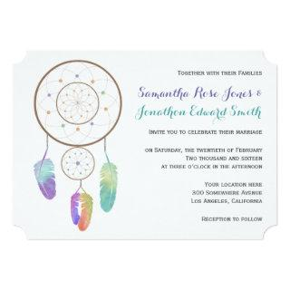 Boho Dreamcatcher Wedding Invitations