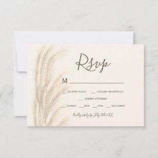 Boho summer pampas grass watercolor rsvp