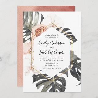 Boho Tropical Floral | Wedding Invitation