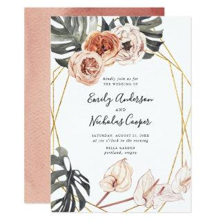 Boho Tropical Floral | Wedding Invitations