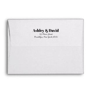 Bold and Classy Invitations Envelope