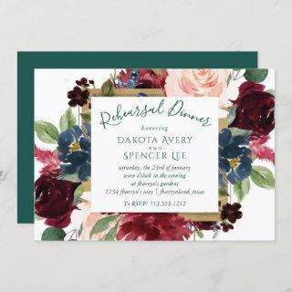 Bold Floral | Botanical Watercolor Rehearsal Party Invitation