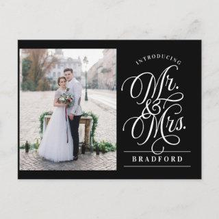 Bold Glamour Elopement Announcement Postcard