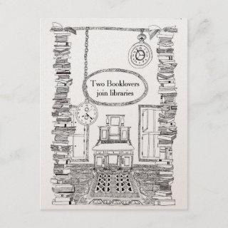 Booklovers Invitations Wedding Card