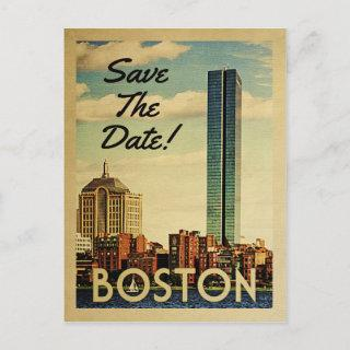 Boston Save The Date Vintage Postcards