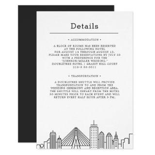 Boston Wedding | Guest Details Invitations