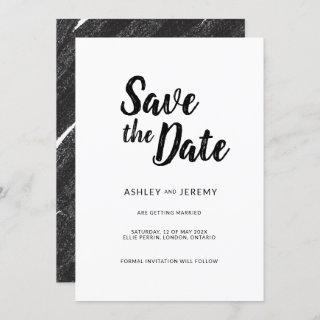 Brees simple minimalist Flat Save The Date Card