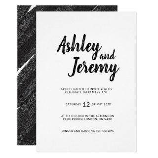 Brees Simple minimalist wedding Invitation