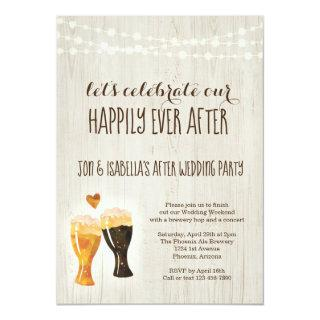 Brewery After Wedding Party Invitations Rustic Beer