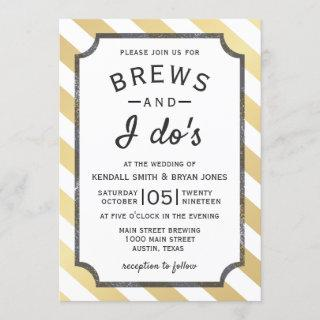 Brews and I Do's Brewery Theme Wedding Invitations