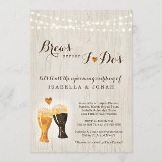 Brews Before I do's Beer Brewery Couple Shower Invitations