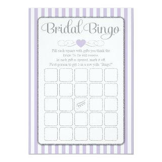 Bridal Bingo Lavender Gray Bridal Shower Game Invitations