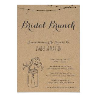 Bridal Brunch Invitation on Kraft Background