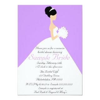 Bridal Shower Black Hair  Bride Invitations