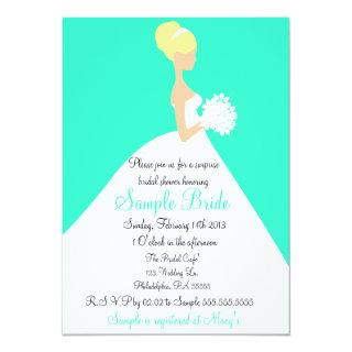 Bridal Shower Blonde Bride Invitations